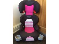 Girls Graco car seat/ booster seat/ child's car seat
