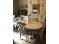 Chabby chic dining table and chairs