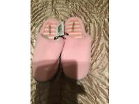 BN Pink slippers size 6