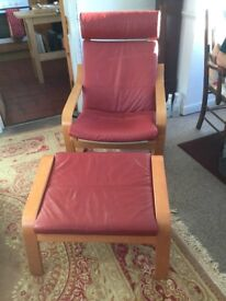 Lounger - Ikea recliner with foot stool