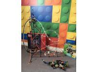K'nex roller coaster and monster bundle