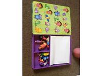 Dora book with 12 figures and play Matt