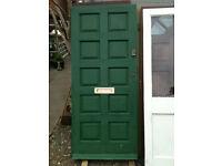 Exterior hardwood door with no glass