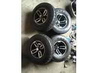 Ltz ltr alloy wheels road legal tyres