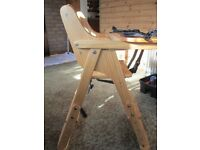 Baby high chair,adjustable height,very clean
