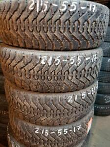 4 winter tires Goodyear nordic 215/55r17 tt