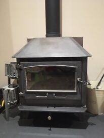 Dean Forge manufactured, Herrick low, clearburn wood burner