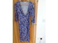 East wrapover dress size 10-12