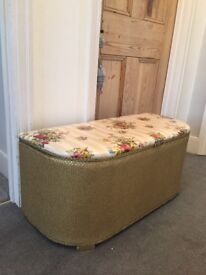 Beautiful Ottoman storage seat. The storage is great and the cushion is comfortable.