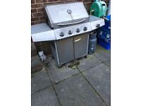 Large 4 Burner Gas Barbeque Garden