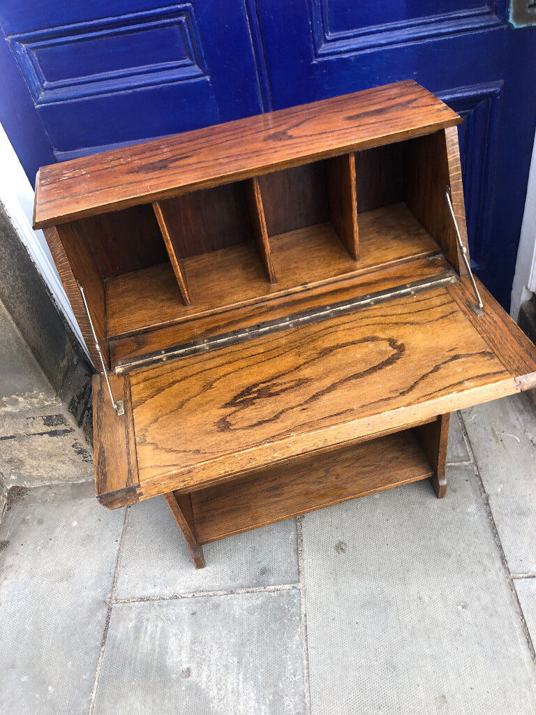 Oak Narrow Bookcase With Small Bureau At Top Great For Narrow Hallways Free Local Delivery In Ferry Road Edinburgh Gumtree