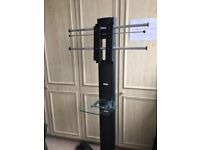 TV trolley stand portable mount on castors
