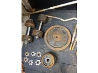 150kg assorted steel weights with bars. Moving must sell asap!!!