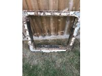 Iron manhole drain cover