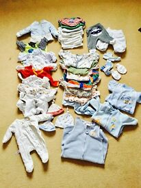 Baby boy's clothes bundle (0-3 months approx.)
