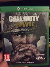 Call of Duty WW2 Xbox One Near Mint.