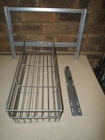 Pull Out Side Mounted Kitchen Wire Baskets 20cm wide