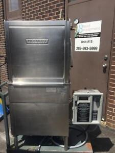 Hobart AM-14 Commercial Pass Thru High Temp Dishwasher Machine w Booster