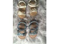 2x girls next sandals like new