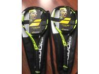 2 x brand new tennis racquets babolat pure aero