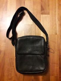 J by Jasper Conran - Designer brown leather shoulder bag - Men's messenger bag