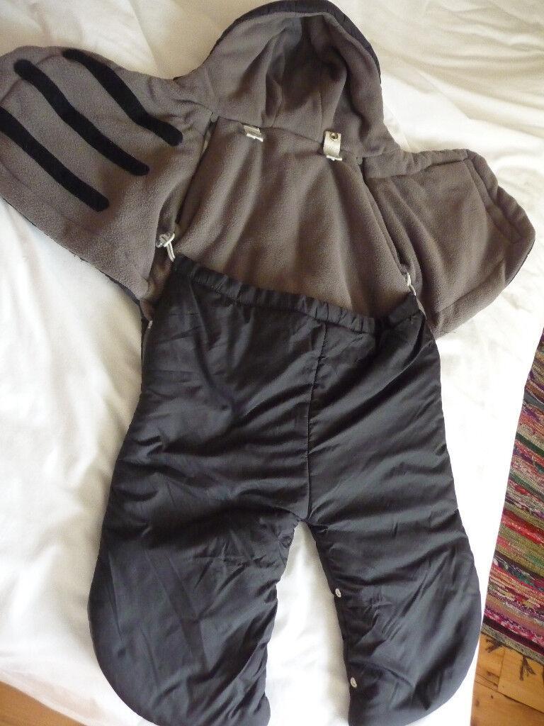 Maxi-Cosi Split Leg Footmuff, warm&cosy for Pram Stroller, Black