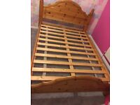soild wood double bed