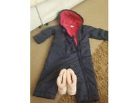 Snowsuit and boots 12-18month