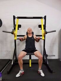 Gym MUSCLE CITY -Plate Loaded Chest & Shoulder Press Machine