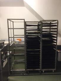 Bakery trays and racks