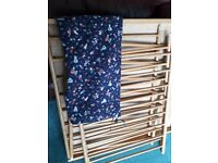 Free! 60s/70s wooden playpen. Used condition and well loved for generations. Lovely mat with it.