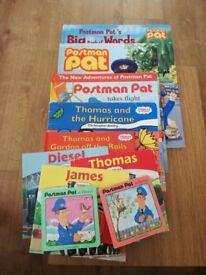 Postman pat & Thomas the tank books & toys