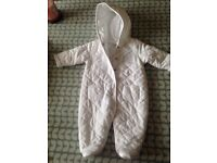 Unisex jasper Conran white all in one suit age 0-3 months
