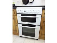 West Kilbride, Electric cooker, double oven, grill and 4 ring ceramic hob - all working.