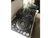 CDJ1000 pair + Behringer 4 Channel Mixer