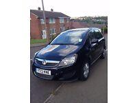 Black Vauxhall ZAFIRA 2013 Plate - LOW MILEAGE