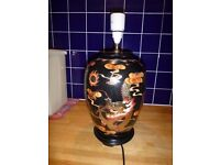 Oriental Style Lamp Base in rich autumnal colours.