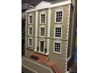 Montgomery Hall Dolls House with Basement, furniture and fittings
