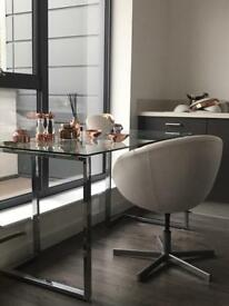 Dwell glass table/desk old price £499 now £90