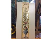 """Gorgeous """"Victorian style tiles"""" 5 making tall picture.FLOWERS."""