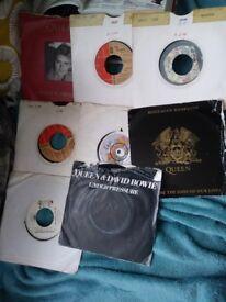 Queen singles x 8