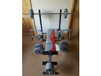 York Fitness Aspire Multi function bench with Flye + 2 in 1 dumbell & ab bench + 47.5Kg of weights