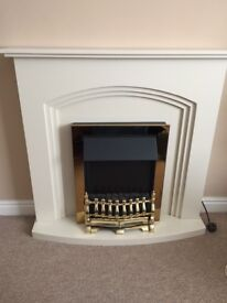 Dimplex electric fire and surround, excellent condition, hardly used