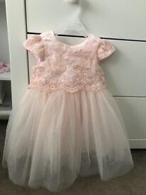 Julien Macdonald blush dress 12-18 months