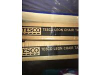 Two Tesco boxed chairs