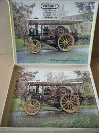 "Victory wooden Jigsaw puzzle ""1919 GARRETT SHOWMANS TRACTION ENGINE"" 80 piece"
