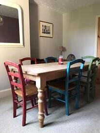 Pine table & Solid Wood Chairs