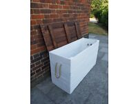 Xl Rustic Nordic wooden chest/trunk storage/ottoman bench.Handcrafted/shabby chic. LOCAL DELIVERY.