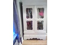 Shabby chic french glass wardrobe With double doors