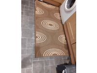Rug for kitchen brown